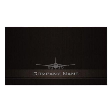 Simplistic Landing Air Plane Company Profile Cards