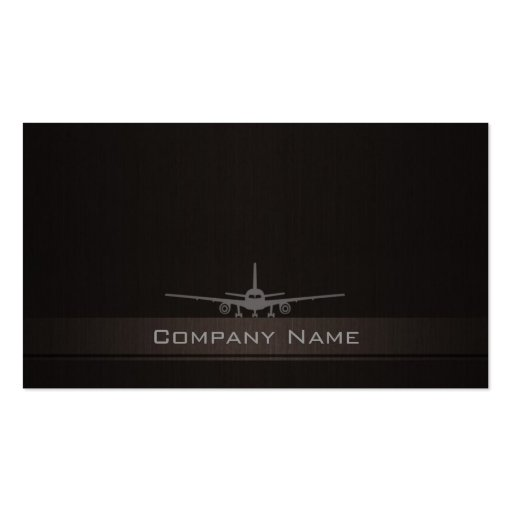 Simple Airplane Company Business Card