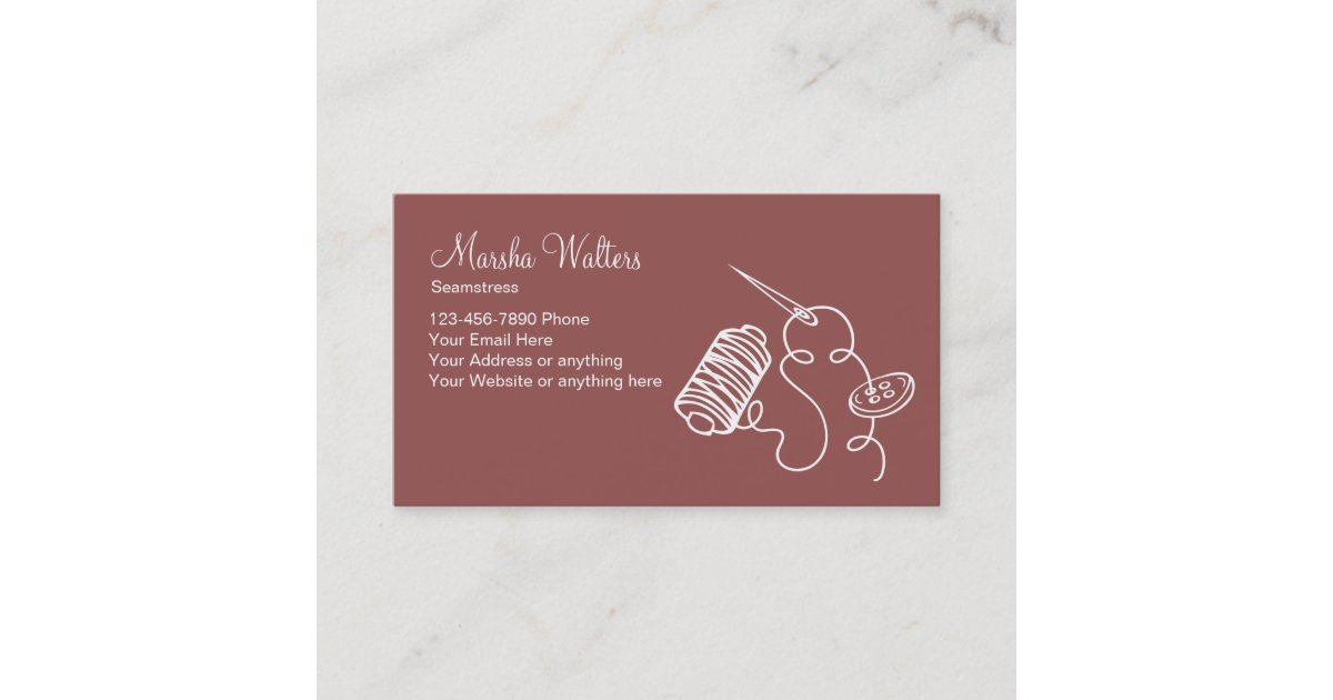 Simple Alterations Seamstress Business Card | Zazzle.com