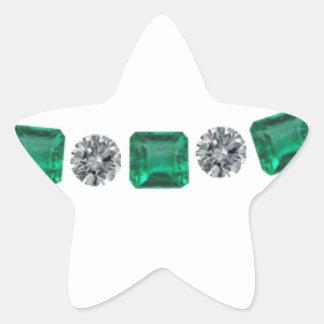 Simple Alternating Emerald and Round Diamond Sticker