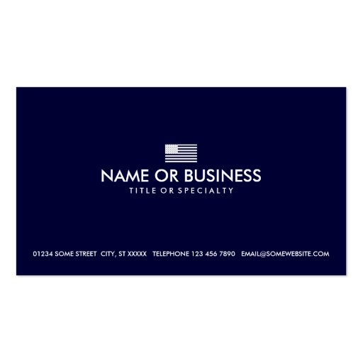 simple american flag business card