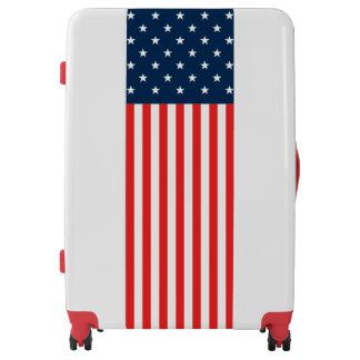 Simple. American Flag. Luggage