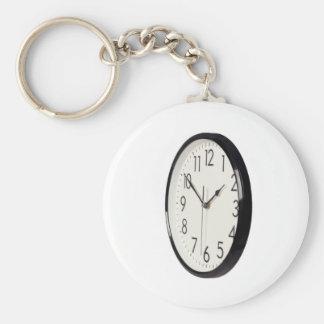 Simple analog clock keychain