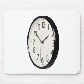 Simple analog clock mouse pad
