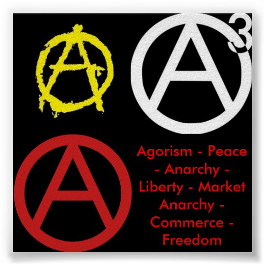Simple Anarchy Poster Zazzle