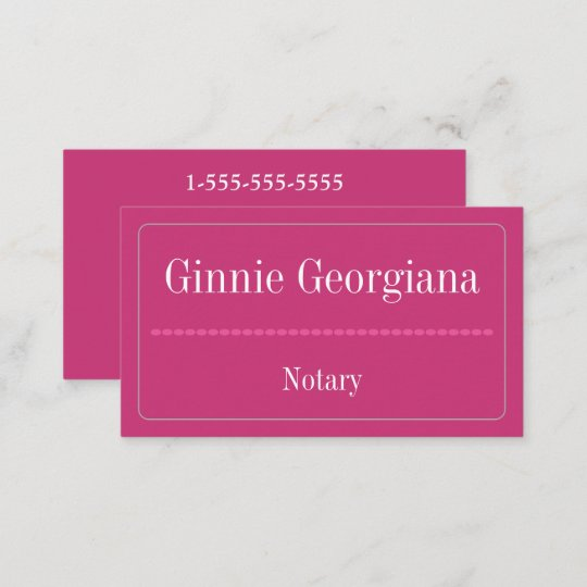simple and basic notary business card - Notary Business Cards