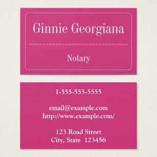 Oval shaped business cards templates zazzle simple and basic notary business card colourmoves Images