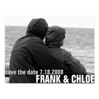 Simple and Cheap Save The Date Annoucement Postcard