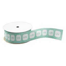 Simple and Chic Mint Green Girly Monogram Grosgrain Ribbon
