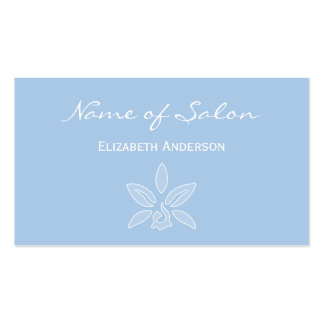 Simple and Chic Salon in Placid Light Blue Floral Double-Sided Standard Business Cards (Pack Of 100)