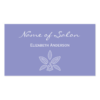 Simple and Chic Salon in Violet Lavender Floral Double-Sided Standard Business Cards (Pack Of 100)