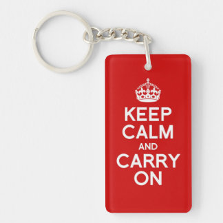 Simple and classic Keep Calm and Carry On Keychain