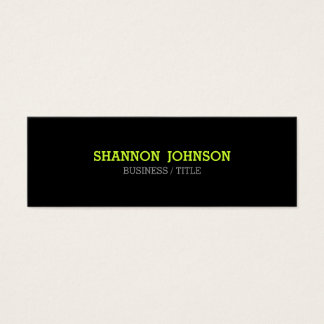 Simple and Clean Slim business card - green accent
