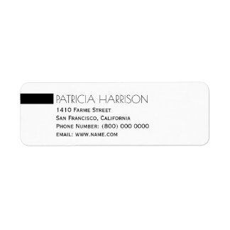 simple and clear name & address label