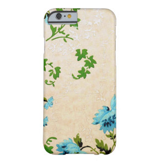 Simple and Cool Little Blue Flower Vintage Design Barely There iPhone 6 Case