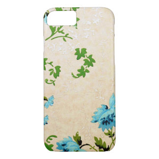 Simple and Cool Little Blue Flower Vintage Design iPhone 8/7 Case