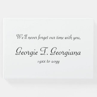 Simple and Customized Condolences Guestbook