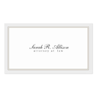 Simple and Elegant Attorney White with Border Double-Sided Standard Business Cards (Pack Of 100)