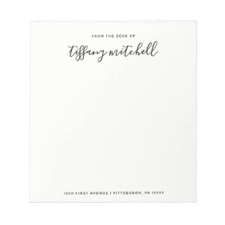 Simple and Elegant Black and White | Typography Notepad