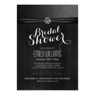 Simple and elegant bridal shower invitation