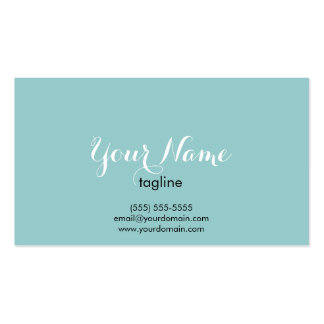 Simple and elegant business card - Light Teal