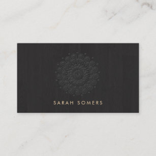 Embossed business cards zazzle simple and elegant embossed motif look black business card reheart Image collections