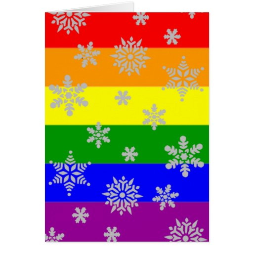 Simple and Elegant Gay Christmas Card