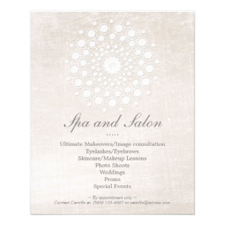 Simple and Elegant Hair Salon and Spa Off White Flyer