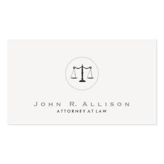 Simple and Elegant Justice Scale Attorney Double-Sided Standard Business Cards (Pack Of 100)