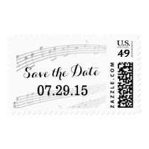 Simple and Elegant Music Notes Save The Date Postage