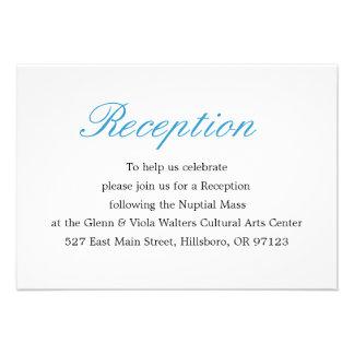 Simple and Elegant Reception Card Custom Invite
