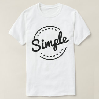 Simple Elegant T-Shirts & Shirt Designs | Zazzle