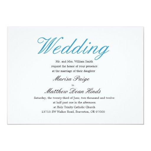 Simple But Elegant Wedding Invitations: Simple And Elegant Wedding Invitation