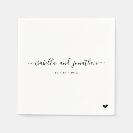 Simple and Elegant Wedding Party Napkins