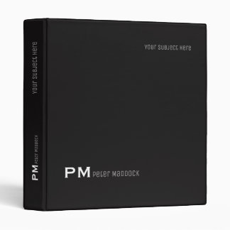 simple and modern black binder with name