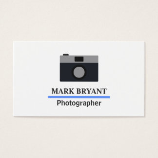 Simple and Modern Camera Icon for Photographers Business Card
