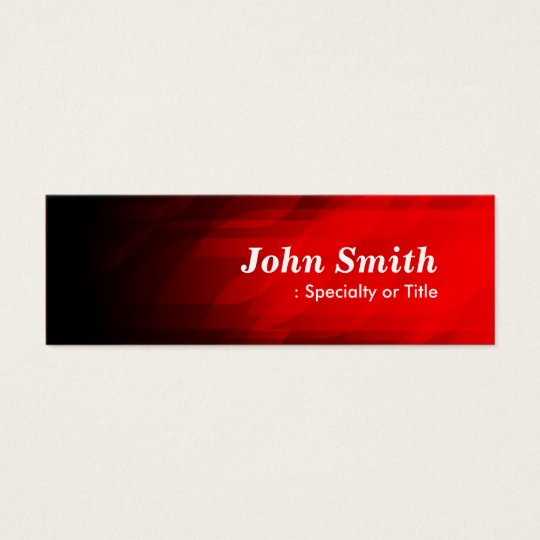 Simple and Modern Dark Red Mini Business Card