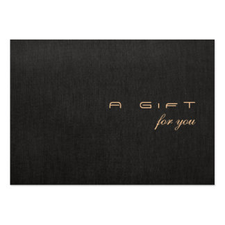 Simple and Modern Gift Certificate Large Business Cards (Pack Of 100)