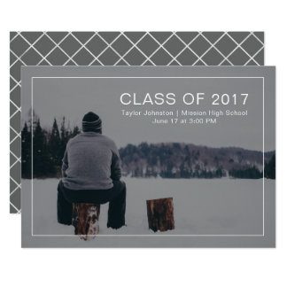 Simple and Modern Graduation Photo Announcement