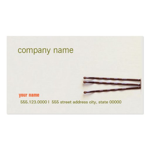 Simple and Natural Hair Salon Business Card