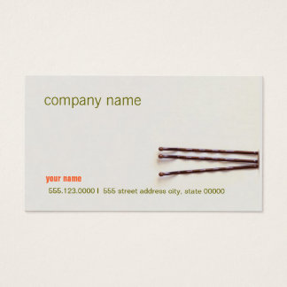 Simple and Natural Hair Stylist Beauty Salon Business Card