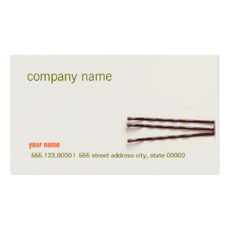Simple and Natural Hair Stylist Beauty Salon Double-Sided Standard Business Cards (Pack Of 100)