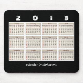 Simple and Neat 2013 Calendar Mousepad