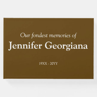 Simple and Personalized Memorial Guestbook