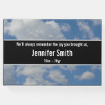 [ Thumbnail: Simple and Plain Cloudy Sky Funeral Guest Book ]