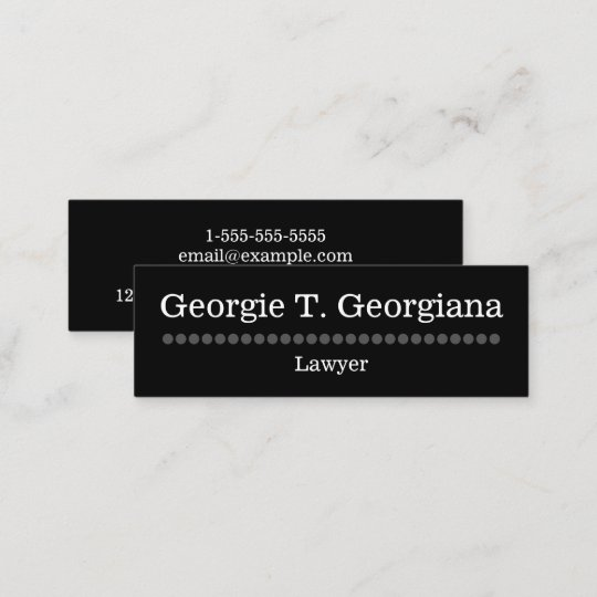 Simple And Plain Lawyer Business Card Zazzle