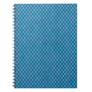 simple and pretty aqua notebooks