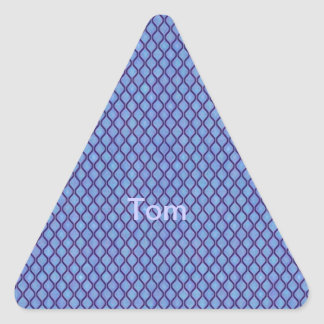 simple and pretty, blue triangle stickers