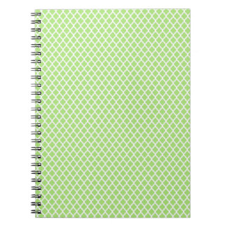 simple and pretty green spiral notebooks