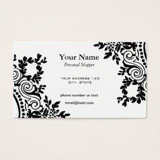 Simple and Pretty Victorian Designs Business Card
